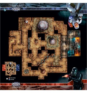 Star Wars IA Lothal Wastes Skirmish Map Playmat Star Wars Imperial Assault