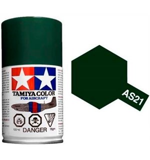 Tamiya Airspray AS-21 Dark Green Tamiya 86521 - 100ml