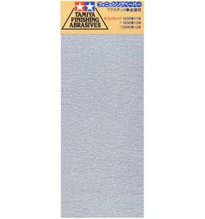 Tamiya Finishing Abrasives Fine Ver 2 1x1200 - 2x1500 - 2x2000