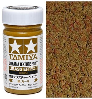 Tamiya Texture Paint - Grass Khaki 100ml Soil Effect