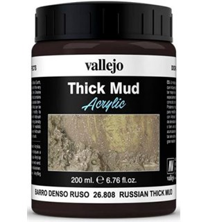 Vallejo Texture Russian Mud 200ml Thick Mud Texture Acrylic