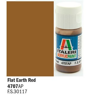 Akrylmaling Flat Earth Red Italeri 4707AP - 20 ml