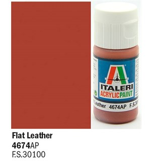 Akrylmaling Flat Leather Italeri 4674AP - 20 ml