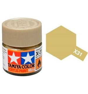 Akrylmaling MINI X-31 Titan Gold Tamiya 81531 - 10ml