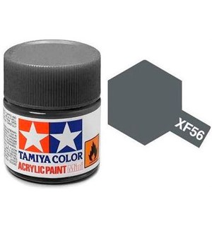 Akrylmaling MINI XF-56 Metallic Grey Tamiya 81756 - 10ml