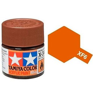 Akrylmaling MINI XF-6 Copper Tamiya 81706 - 10ml