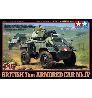 British 7ton Armored Car Mk.IV Tamiya 1:48 Byggesett