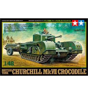 British Tank Churchill Mk. VII Crocodile Tamiya 1:48 Byggesett