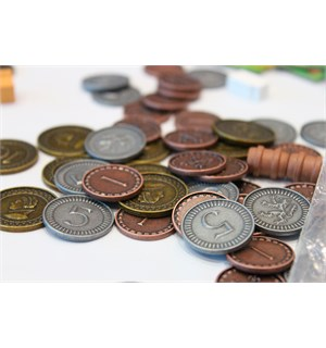 Clans of Caledonia Metal Coin Set Myntsett til Clans of Caledonia