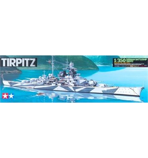 German Battleship Tirpitz Tamiya 1:350 Byggesett