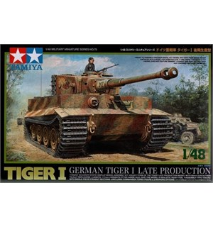 German Tiger I Late Production Tamiya 1:48 Byggesett