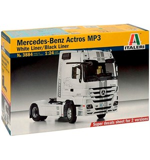 Mercedes Benz Actros MP3 Black/Whiteline Italeri 1:24 Byggesett