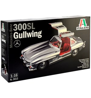 Mercedes-Benz 300 SL Gullwing 1:16 Italeri 1:16 Byggesett