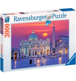 Peterskirken Roma 3000 biter Puslespill Ravensburger Puzzle