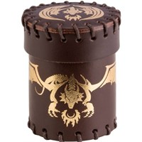 RPG Dice Terningkopp Dragon Brun/Gull Brown & Golden Leather Dice Cup