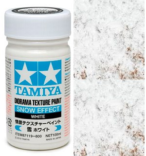 Tamiya Texture Paint - White 100ml Snow Effect