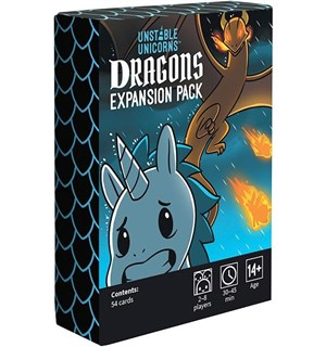 Unstable Unicorns Dragons Expansion Utvidelse til Unstable Unicorns