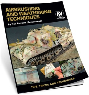 Vallejo Bok Airbrush & Weathering Techn. Tips, Tricks and Techniques til Airbrush