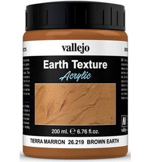Vallejo Texture Brown Earth 200ml Earth Texture Acrylic