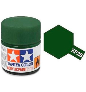 Akrylmaling MINI XF-26 Deep Green Tamiya 81726 - 10 ml