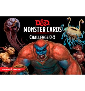 D&D Cards Monster Challenge 0-5 Dungeons & Dragons - 268 kort