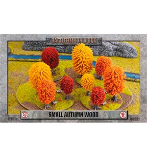 Battlefield in a Box Small Autumn Wood Painted Tabletop Terrain - 10-15mm