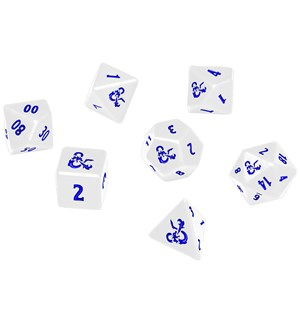 D&D Dice Set Heavy Metal Icewind Dale Offisielt terningsett Dungeons & Dragons