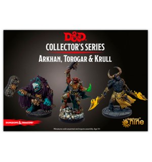 D&D Figur Coll. Series Arkhan/Torogar/Kr Dungeons & Dragons Collectors Series
