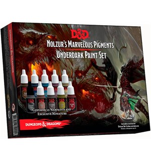 D&D Nolzur Marvelous Pigments Underdark 10 malinger Army Painter Paint Set
