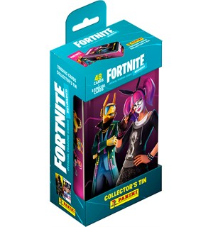 Fortnite TCG Reloaded Collectors Tin 48 samlekort + 3 spesialkort + tinnboks
