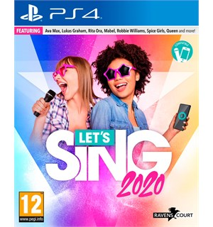Lets Sing 2020 m/ 2 mikrofoner PS4
