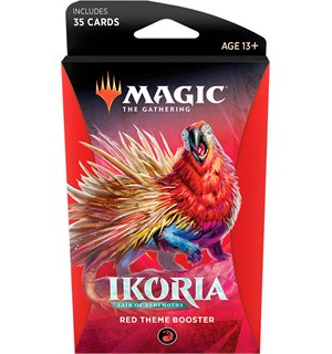Magic Ikoria Theme Booster Red Lair of Behemoths - 35 røde kort