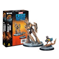 Marvel Crisis Protocol Rocket/Groot Exp Utvidelse til Marvel Crisis Protocol