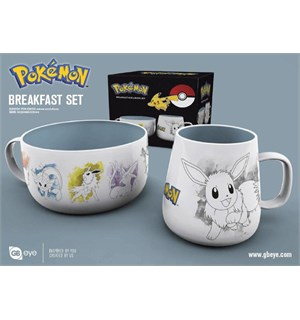 Pokemon Breakfast Set Eevee Evolutions