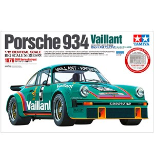 Porsche 934 Valliant Tamiya 1:12 Byggesett