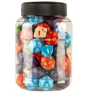 RPG Dice Jar of Dice - 80 stk