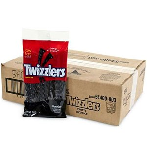 Twizzlers Licorice Twists - 12 stk Hel kartong med Twizzlers Licorice Twist
