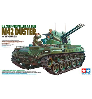 US Self-Propelled AA Gun M42 Duster Tamiya 1:35 Byggesett m/ 3 figurer