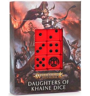 Daughters of Khaine Dice Set Warhammer Age of Sigmar
