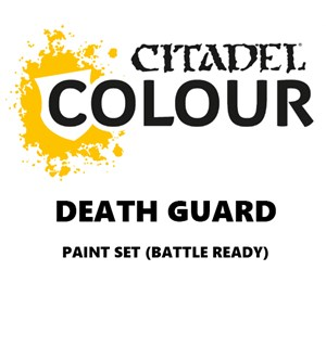 Death Guard Paint Set Battle Ready Paint Set for din hær