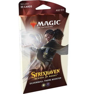 Magic Strixhaven Theme Silverquill Theme Booster - 35 hvite/svarte kort