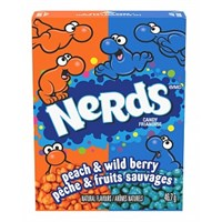 Nerds Wildberry & Peach 47g Wonka Tyggekarameller