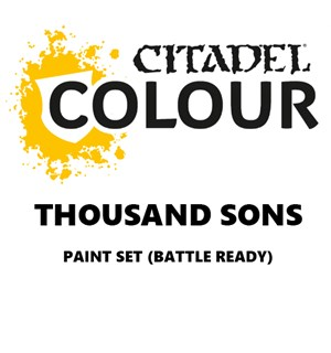 Thousand Sons Paint Set Battle Ready Paint Set for din hær