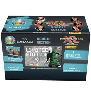 AdrenalynXL Euro2020 Nordic Ed. Gift Box 10 boosterpakker+1 XXL Limited+2 Limited