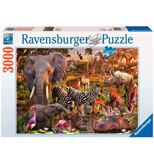 African Animals 3000 biter Puslespill Ravensburger Puzzle