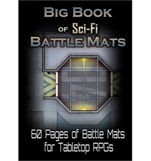 Book Of Battlemats BIG SciFi - 60 sider Spiralinnbundet - 2,5 cm rutenett