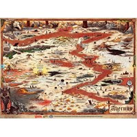 D&D Game Mat Avernus Map 60x40 cm Dungeons & Dragons Descent into Avernus