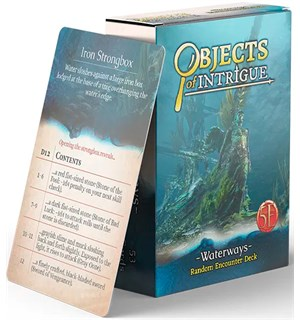 D&D Objects of Intrigue Waterways Deck Dungeons & Dragons - Random Encounters