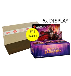 Magic Throne of Eldraine 6 stk Display Fri Frakt - Full case