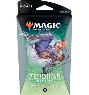 Magic Zendikar Rising Theme Black Theme Booster - 35 svarte kort